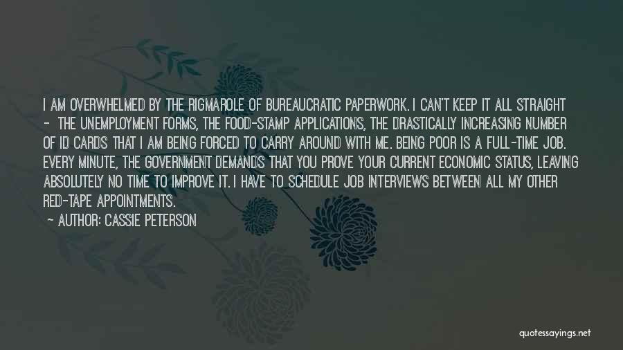 Government Job Quotes By Cassie Peterson