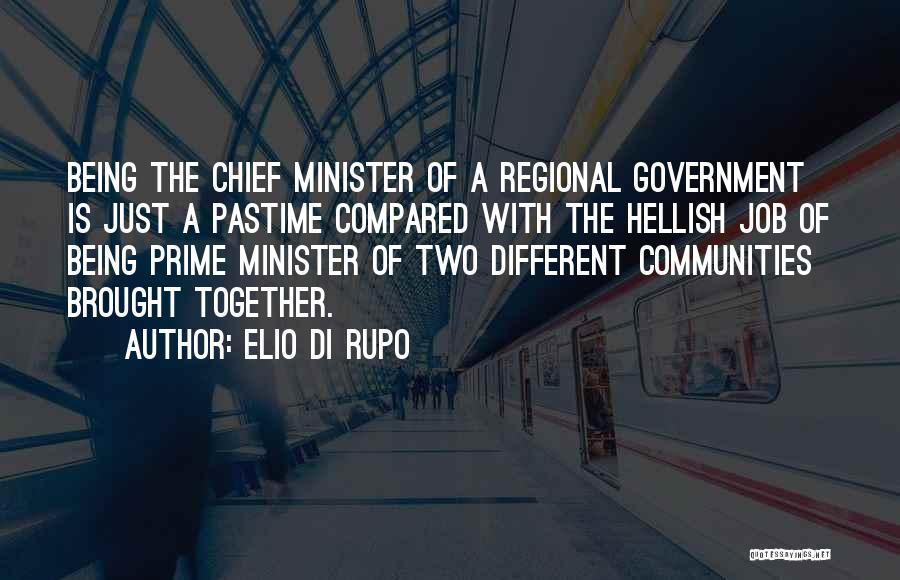 Government Job Quotes By Elio Di Rupo