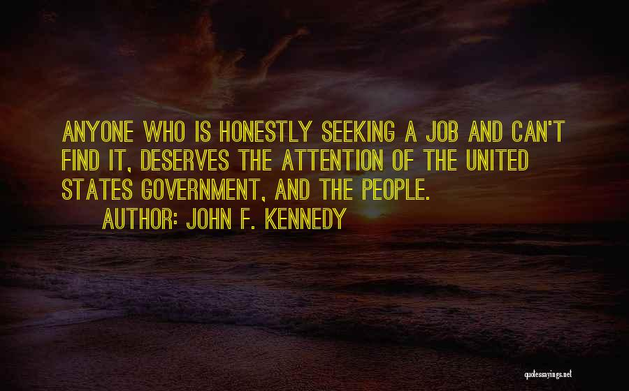 Government Job Quotes By John F. Kennedy
