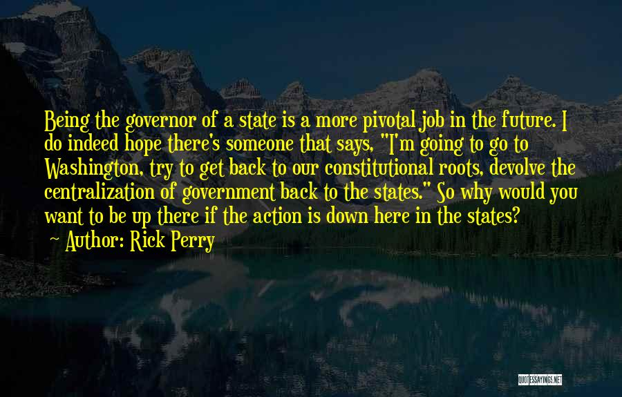 Government Job Quotes By Rick Perry