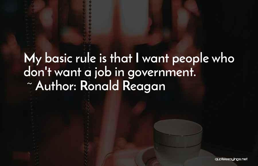 Government Job Quotes By Ronald Reagan