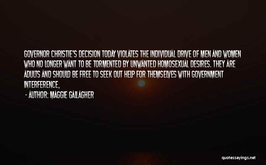 Governor Christie Quotes By Maggie Gallagher