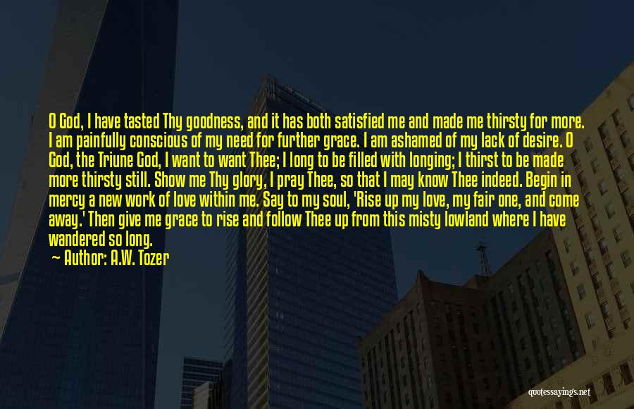 Grace And Mercy Quotes By A.W. Tozer
