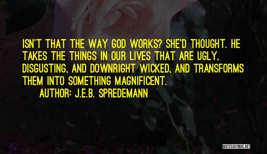 Grace And Mercy Quotes By J.E.B. Spredemann