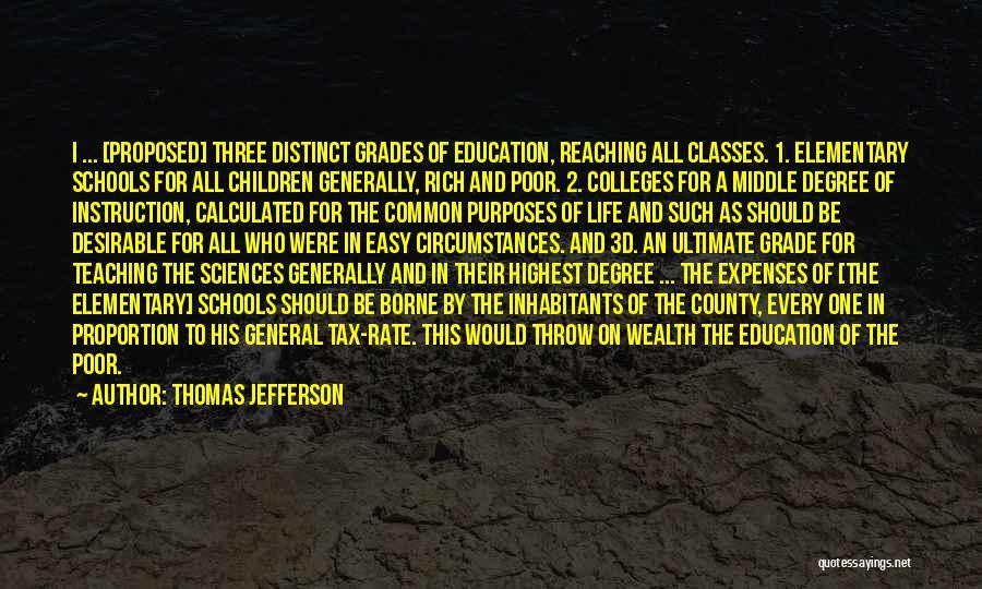 Grade 1 School Quotes By Thomas Jefferson