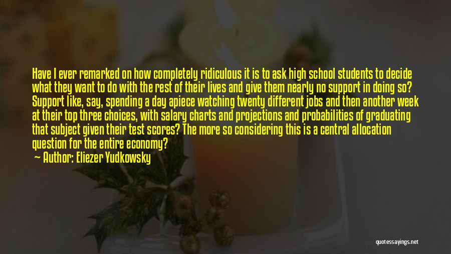 Graduating High School Quotes By Eliezer Yudkowsky