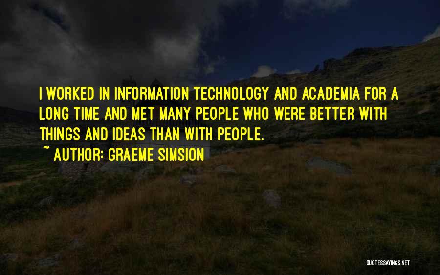 Graeme Simsion Quotes 1114396