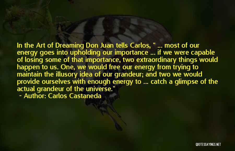 Grandeur Quotes By Carlos Castaneda