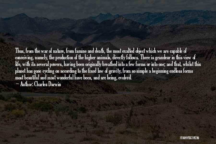Grandeur Quotes By Charles Darwin