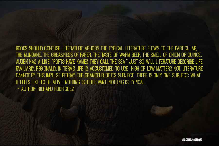 Grandeur Quotes By Richard Rodriguez