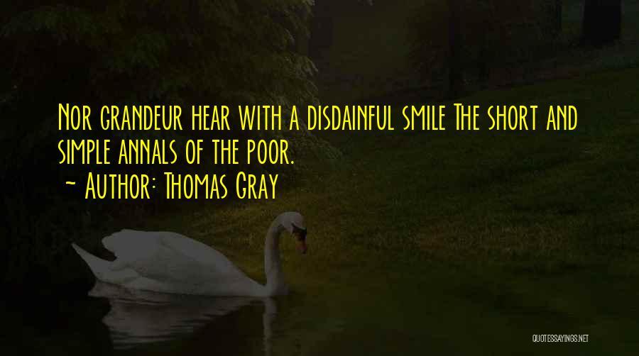 Grandeur Quotes By Thomas Gray