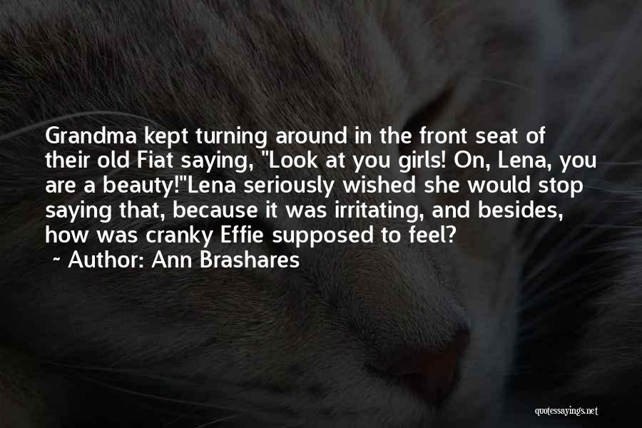 Grandma Quotes By Ann Brashares