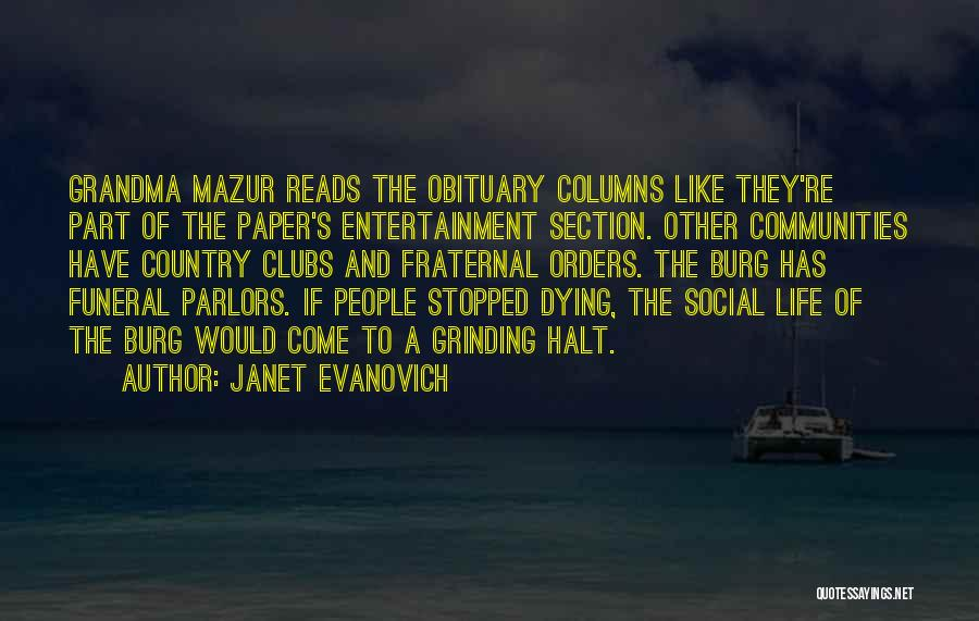 Grandma's Dying Quotes By Janet Evanovich