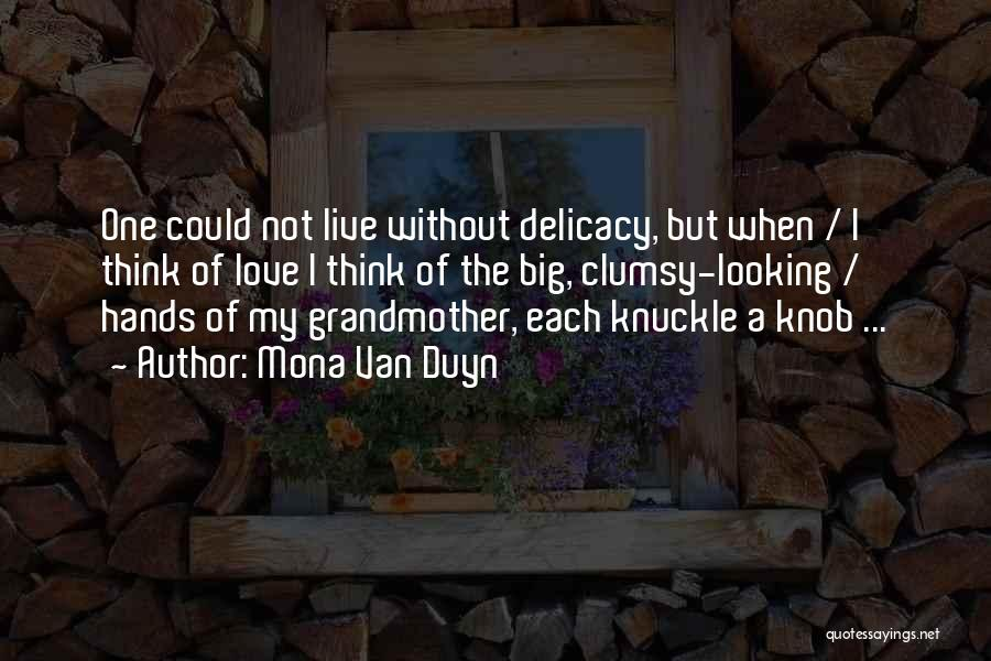 Grandmother Love Quotes By Mona Van Duyn