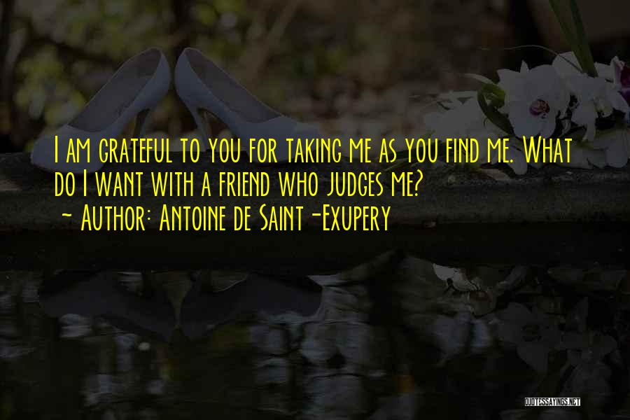 Grateful For Who I Am Quotes By Antoine De Saint-Exupery