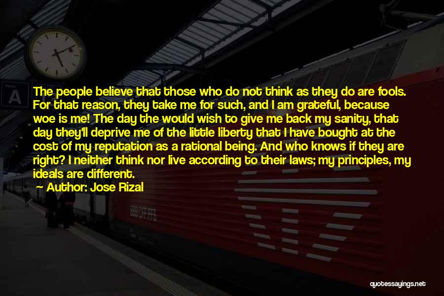 Grateful For Who I Am Quotes By Jose Rizal