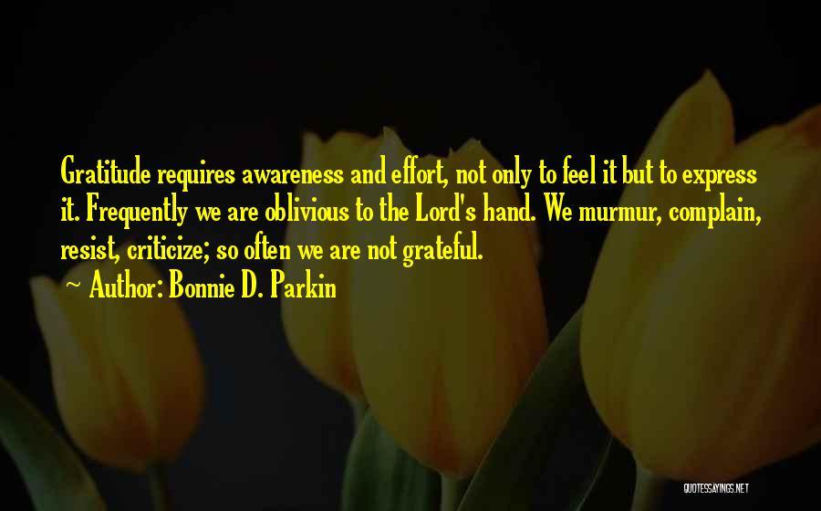 Grateful Quotes By Bonnie D. Parkin