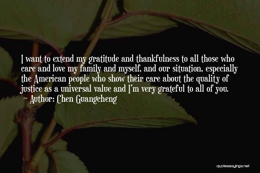 Grateful Quotes By Chen Guangcheng