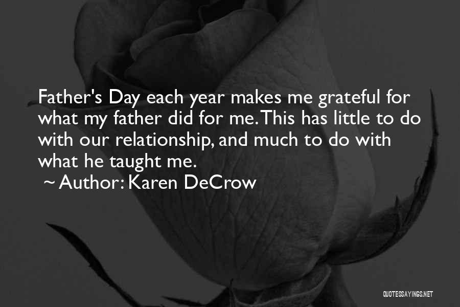 Grateful Quotes By Karen DeCrow