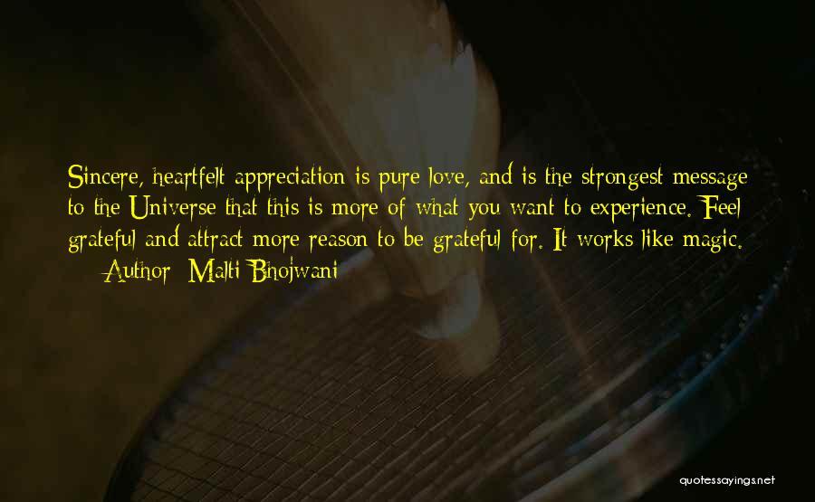 Grateful Quotes By Malti Bhojwani