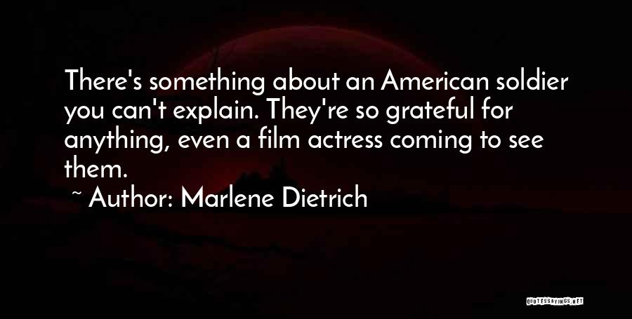 Grateful Quotes By Marlene Dietrich
