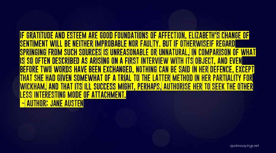 Gratitude For Success Quotes By Jane Austen