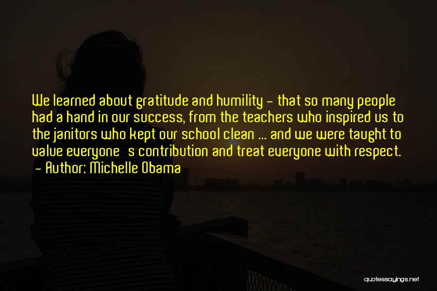 Gratitude For Success Quotes By Michelle Obama