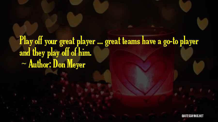 Great Basketball Team Quotes By Don Meyer