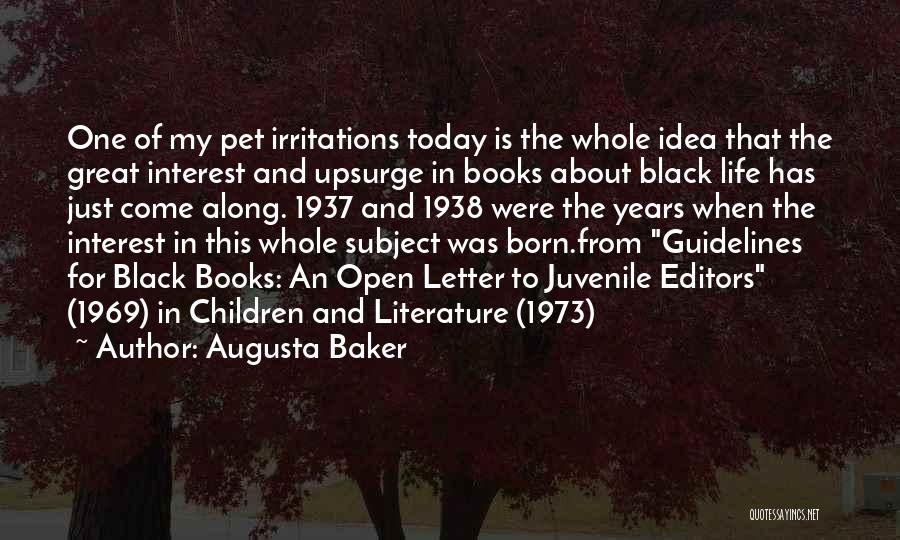 Great Children's Literature Quotes By Augusta Baker