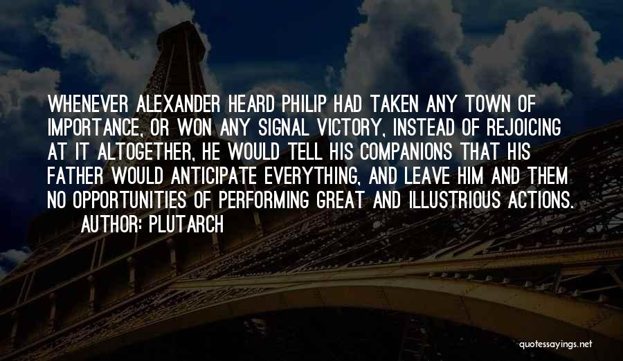 Great Companions Quotes By Plutarch