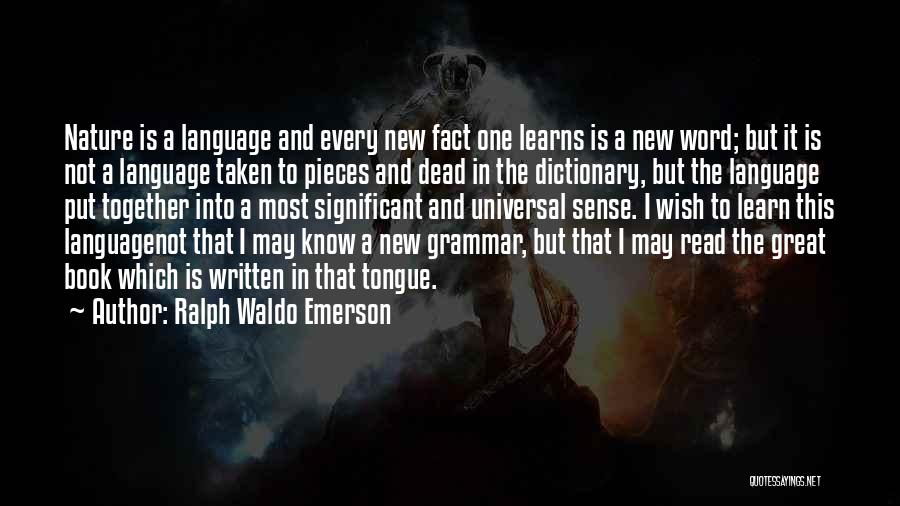 Great Grammar Quotes By Ralph Waldo Emerson