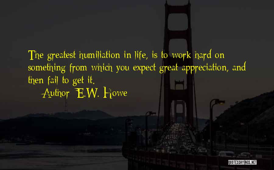 Great Hard Work Quotes By E.W. Howe