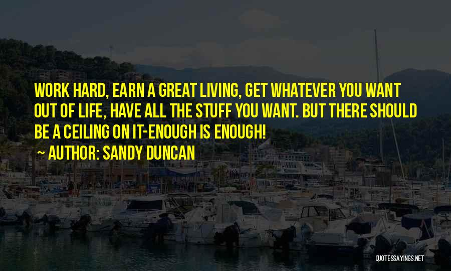 Great Hard Work Quotes By Sandy Duncan