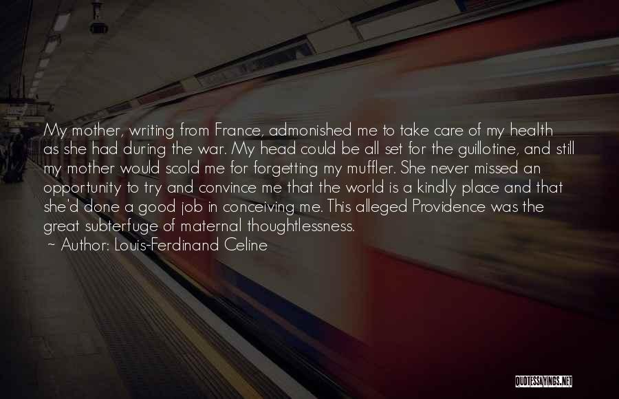 Great Job Opportunity Quotes By Louis-Ferdinand Celine