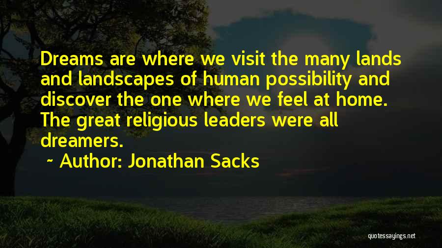 Great Leaders And Quotes By Jonathan Sacks