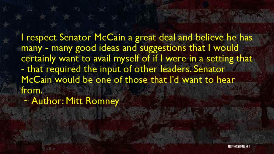 Great Leaders And Quotes By Mitt Romney