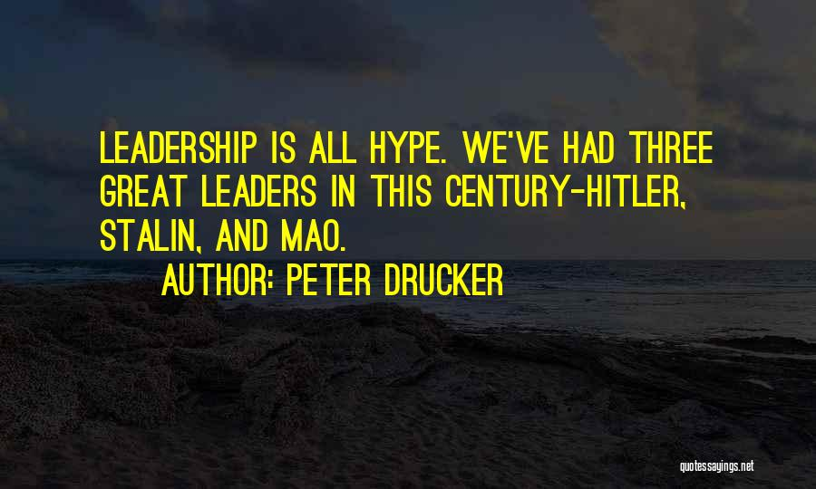 Great Leaders And Quotes By Peter Drucker