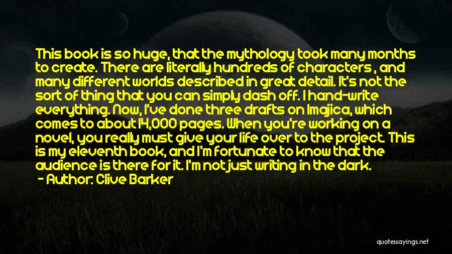 Great Mythology Quotes By Clive Barker