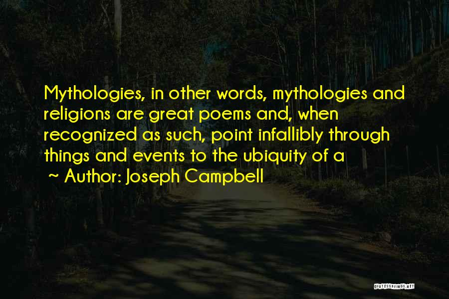 Great Mythology Quotes By Joseph Campbell