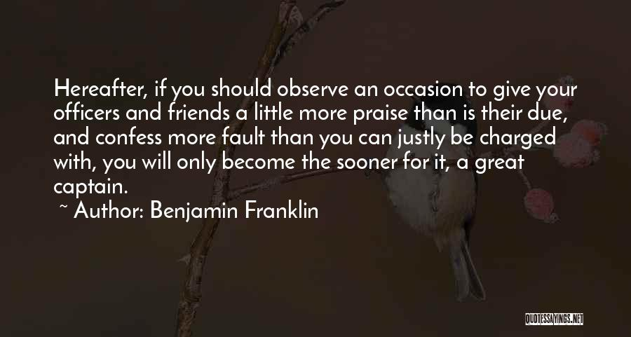 Great Occasion Quotes By Benjamin Franklin