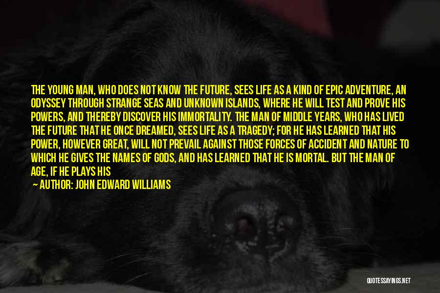 Great Occasion Quotes By John Edward Williams