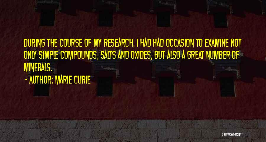Great Occasion Quotes By Marie Curie