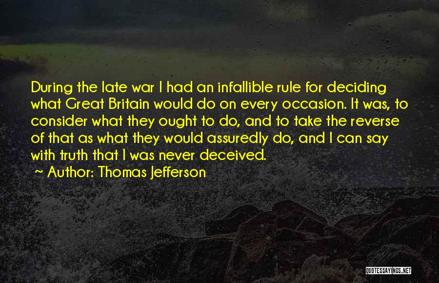 Great Occasion Quotes By Thomas Jefferson