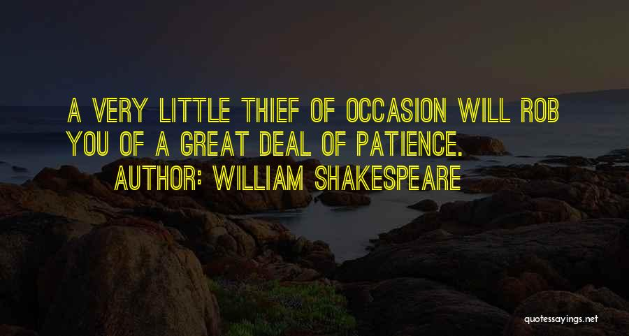 Great Occasion Quotes By William Shakespeare