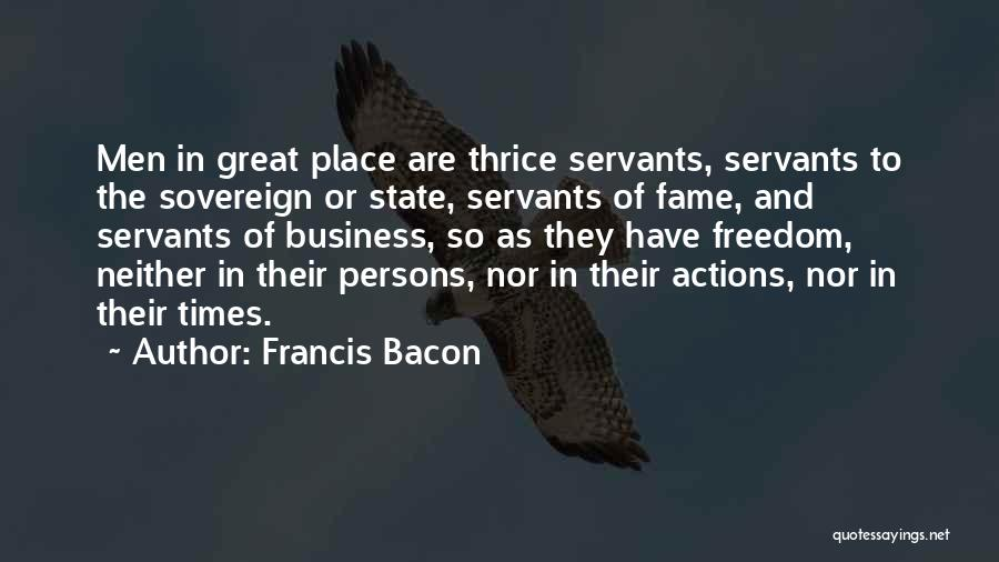Great Persons Quotes By Francis Bacon