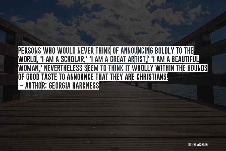 Great Persons Quotes By Georgia Harkness