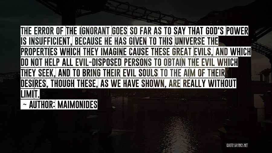 Great Persons Quotes By Maimonides