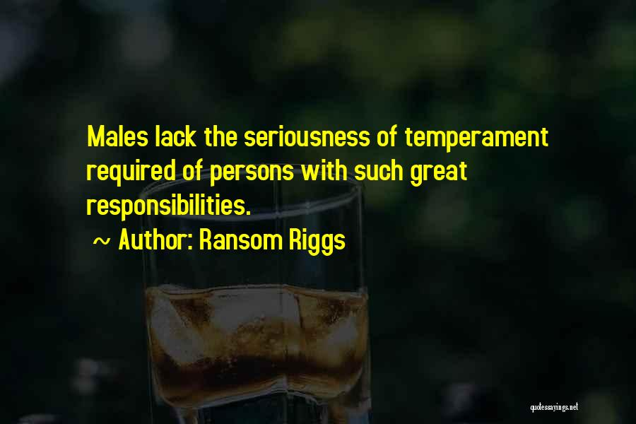 Great Persons Quotes By Ransom Riggs