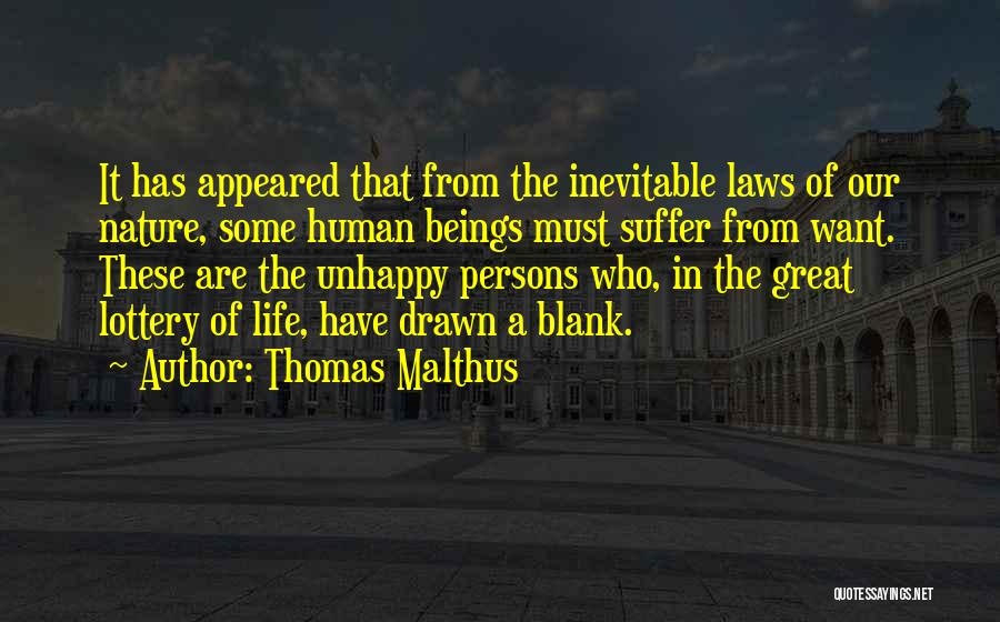 Great Persons Quotes By Thomas Malthus
