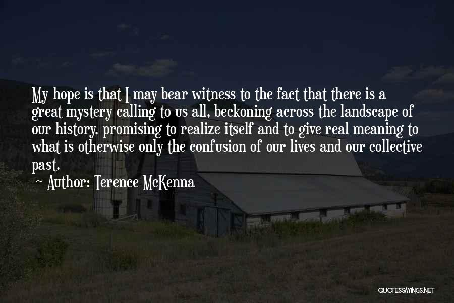 Great Promising Quotes By Terence McKenna